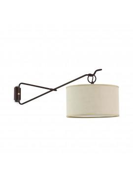 Applique classico ferro battuto snodabile 1 luce BGA 2902/A1