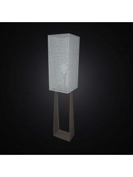 Piantana moderna design tortora e bianco 1 luce BGA 2894/PT