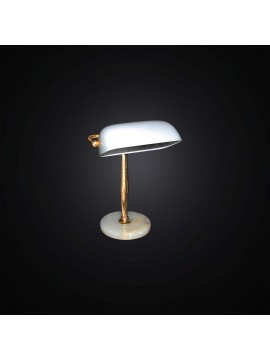 Classic study lamp in gold and marble leaf 1 light BGA 2893 / L