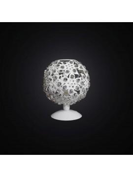 Lumetto moderno bianco design cristallo 1 luce BGA 2790/LP