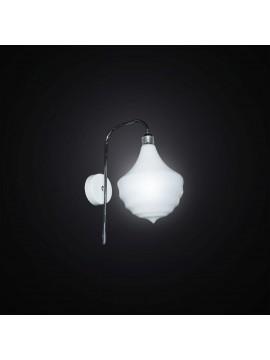 Applique moderno design murano bianco 1 luce BGA 2923/A1