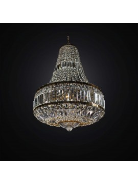 Lampadario classico cristallo oro 6 luci BGA 2935/6 design swarovsky