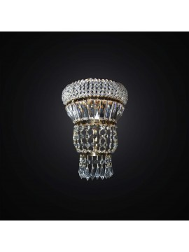 Applique classic crystal gold 2 lights BGA 2937 / A2 design swarovsky