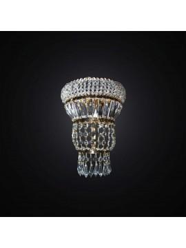 Applique cristallo classico oro 2 luci BGA 2937/A2 design swarovsky