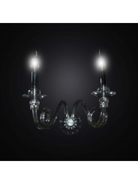Chrome-plated wall light 2 lights BGA 2943 / A2 design swarovsky