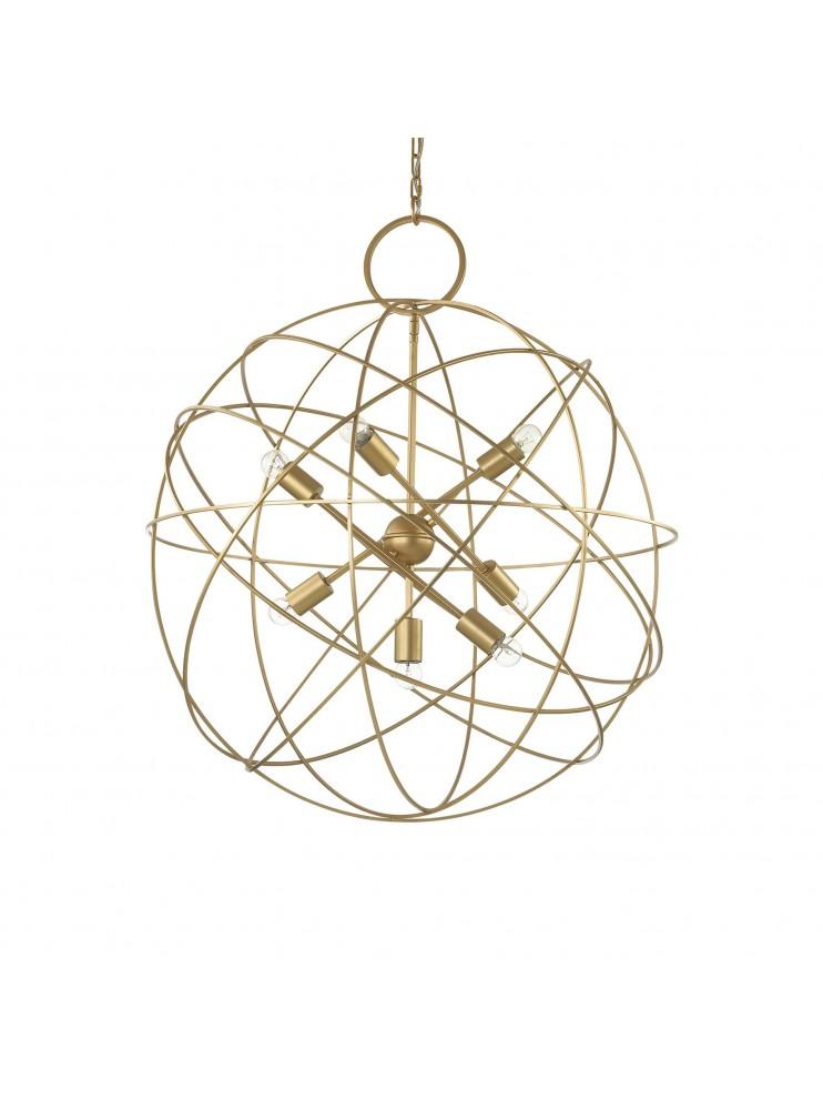 Lampadario vintage classico sfera oro a 7 luci konse for Lampadario vintage