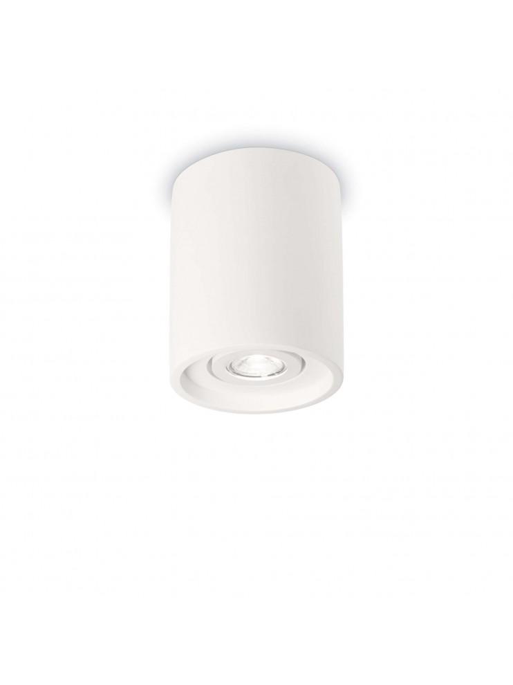 Faretto moderno in gesso 1 luce Oak round bianco