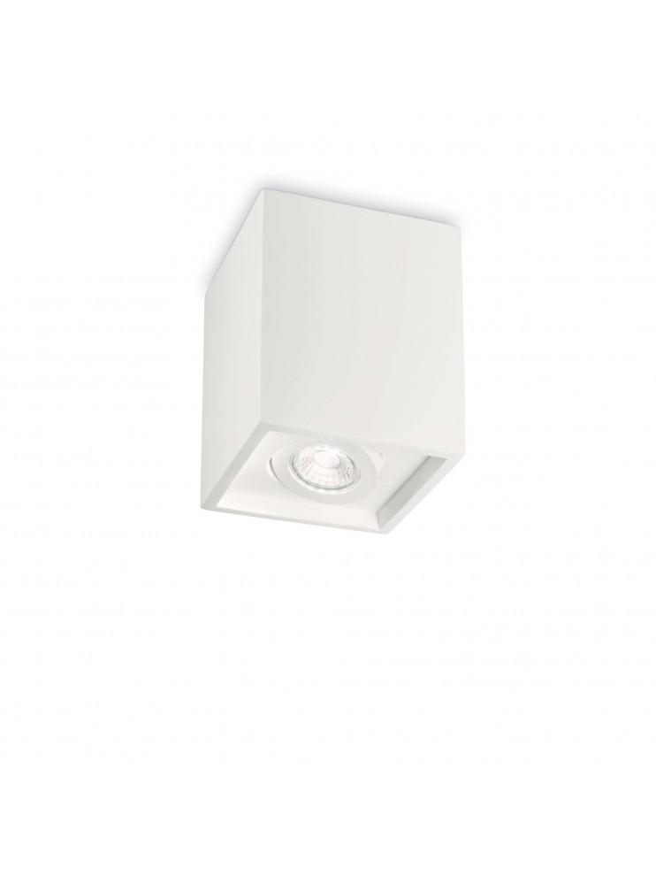 Faretto moderno in gesso 1 luce Oak square bianco