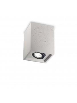 Modern spotlight 1 light Oak square cement