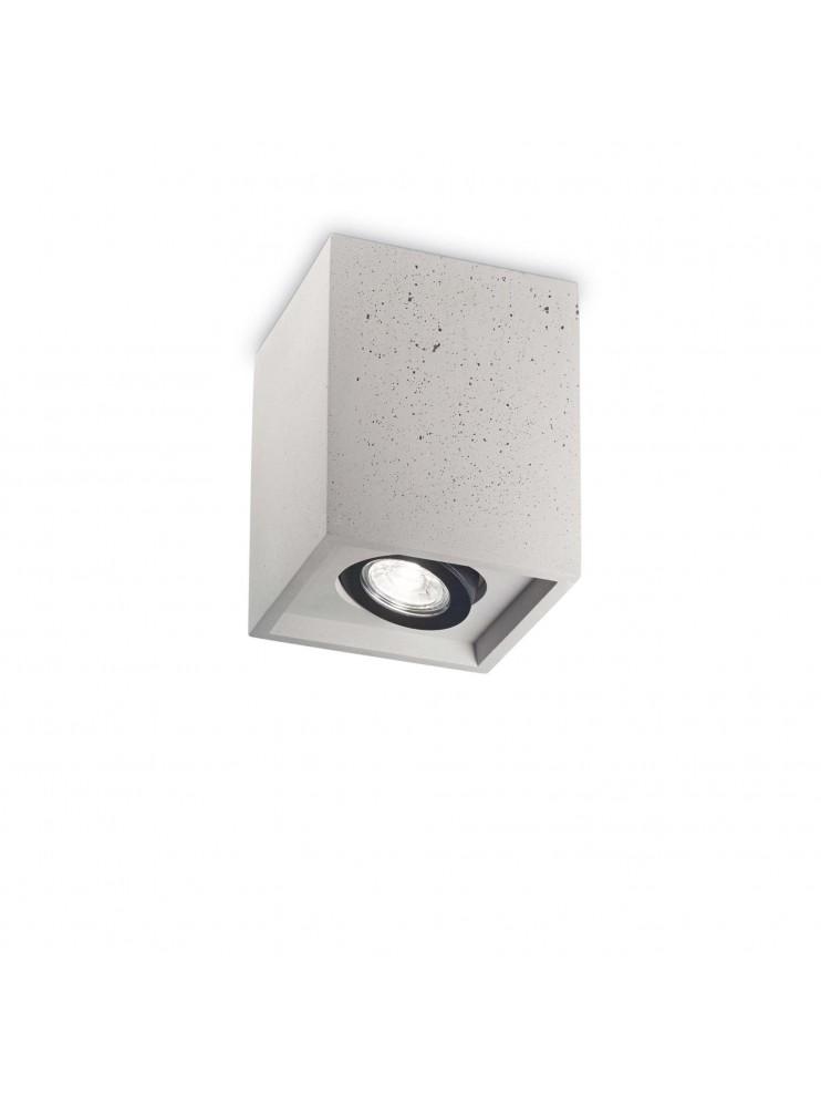 Faretto moderno 1 luce Oak square cemento