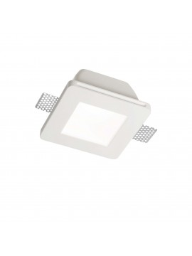 Contemporary plaster recessed spotlight 1 light Samba square fl1 big glass