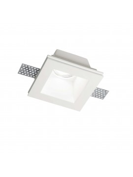 Contemporary plaster recessed spotlight 1 light Samba square fl1 big