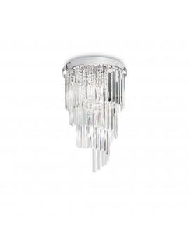 Modern ceiling light in crystal 8 lights Carlton pl8