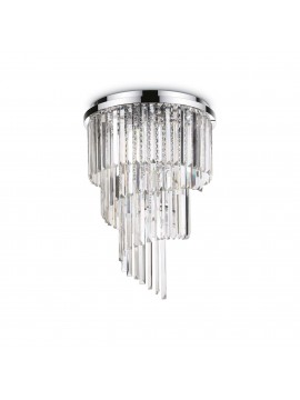 Modern ceiling light in crystal 12 lights Carlton pl12
