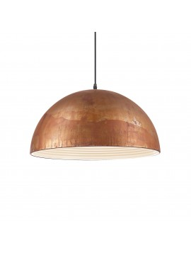 Lampadario rustico classico ruggine a 1 luce Folk sp1 d.50
