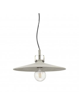 Rustic vintage cement chandelier 1 light Brooklyn sp1 d.35