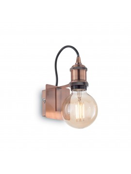 Frida ap1 antique copper minimal vintage 1 light wall lamp