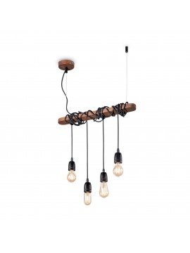 Rustic 4-light rust vintage chandelier Electric sp4