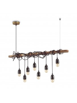 Rustic 8-light rust vintage chandelier Electric sp8