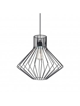 Modern chandelier in metal 1 light Ampolla 4 sp1 black