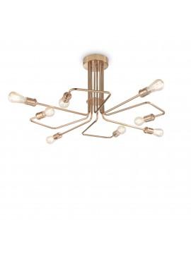 Vintage brass ceiling lamp aged 8 lights Triumph pl8