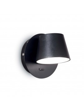 Applique a led design moderno 6w Gim ap1 nero
