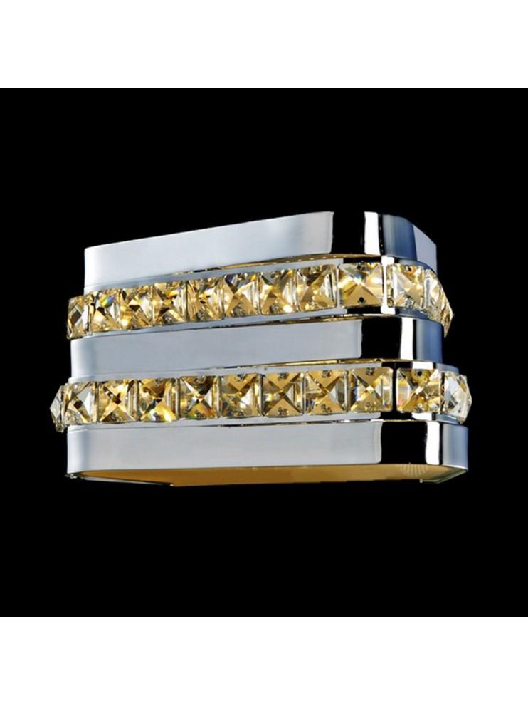 Applique a led 8,64w moderno con cristalli illuminati Triangolo