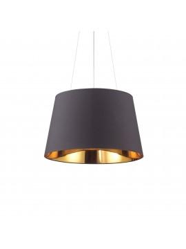 Lampadario moderno a cilindro nero e oro 4 luci Nordik sp4