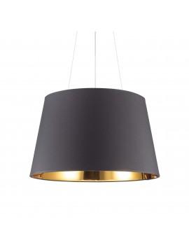 Lampadario moderno a cilindro nero e oro 6 luci Nordik sp6