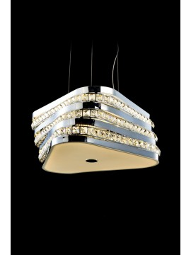 Modern 28.8w LED chandelier with Triangle illuminated crystals