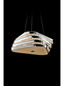 Modern 43,2w led chandelier with Triangle illuminated crystals