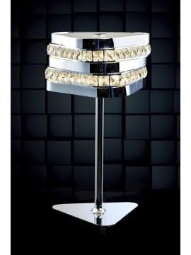 Lumetto a led 10w moderno con cristalli illuminati Triangolo