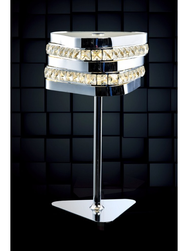 Modern 10w led lamp with Triangle illuminated crystals