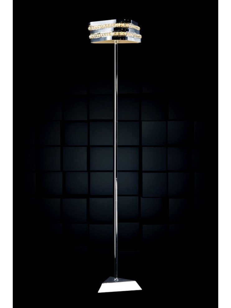 21,6w modern led floor lamp with illuminated Triangle crystals
