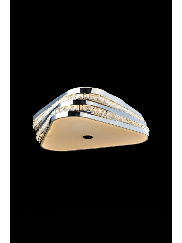 Modern 34.56w led ceiling light with Triangle illuminated crystals