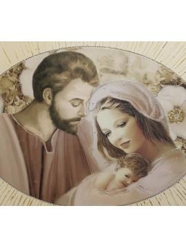Capezzale quadro classico 50x70 ovale sacra famiglia 10636-1