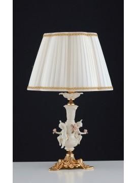 Lume grande classico oro con capodimonte 1 luce LGT Varsavia lg