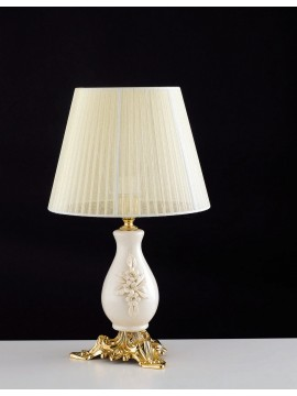 Lumetto classico oro con capodimonte 1 luce LGT Berlino lt