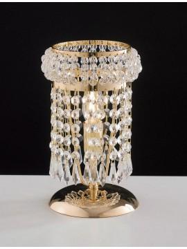 Lumetto classico oro con cristalli 1 luce LGT Praga lp