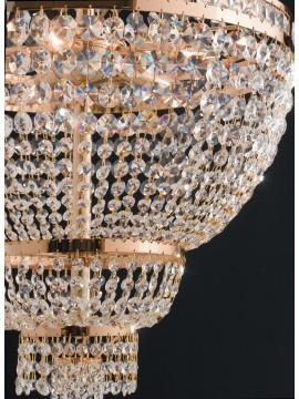 Lampadario classico oro con cristalli 6 luci LGT Mercurio sp6 swarosky