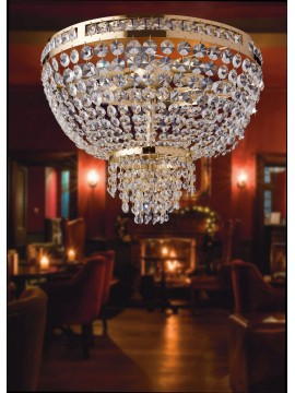 Plafoniera classica oro con cristalli 6 luci LGT Mercurio pl6 swarosky