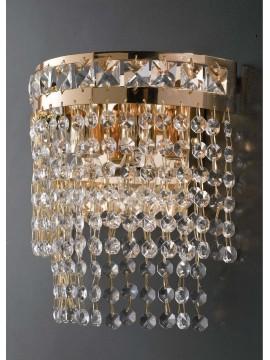 Applique classico oro con cristalli 1 luce LGT Atene ap1