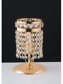 Lumetto classico oro con cristalli 1 luce LGT Mercurio lp