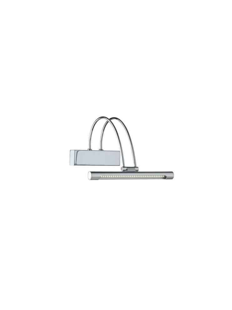 Applique a 1 luce moderno a led coll. bow ap36 cromo