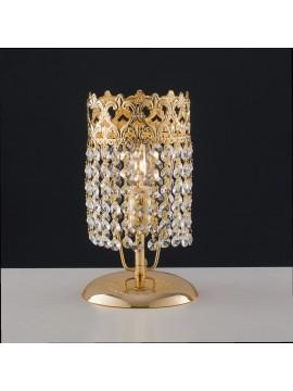 Lumetto classico oro con cristalli trasparenti 1 luce LGT Impero lp