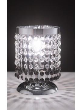 Lumetto moderno in cristallo trasparente e nero 1 luce LGT Vienna lp