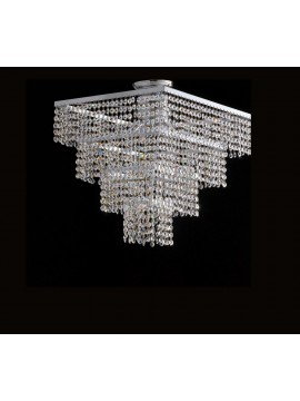 Plafoniera moderna in cristallo trasparente 6 luci LGT Parigi pl6