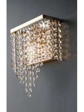 Applique classico oro con cristalli trasparenti 1 luce LGT Parigi ap1