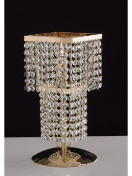Classic gold table lamp with crystals 1 light LGT Paris lg