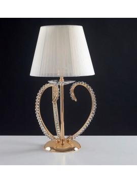 Lumetto classica oro con perle cristallo 1 luce LGT Perla lp